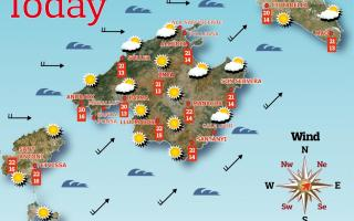 Weather forecast for the Balearic Islands for Tuesday, May 11