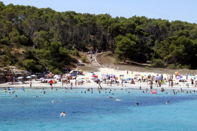 S'Amarador beach in Santanyi, Mallorca