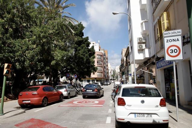 30 kilometre per hour speed limit in Palma, Mallorca