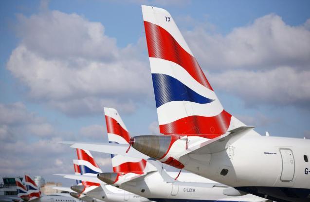 British Airways aircraft stand at London City Airport