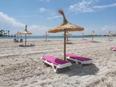 Alcudia's beach.