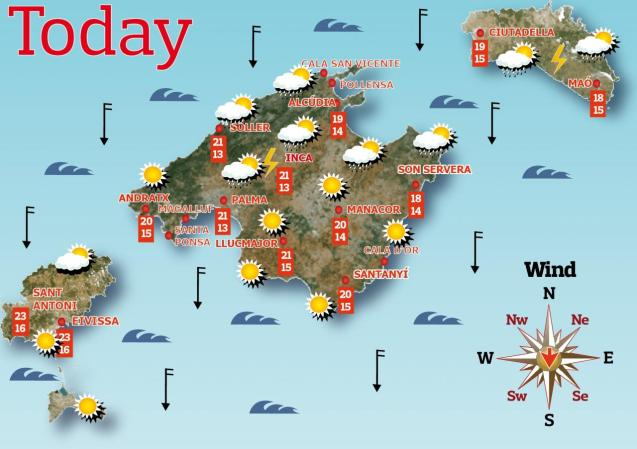 Weather forecast for the Balearic Islands for Friday, May 14
