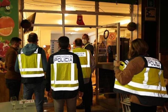 Local & National Police inspection in Palma.