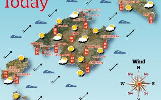 Weather forecast for the Balearic Islands for Saturday, May 15