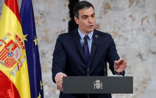 The prime minister of Spain, Pedro Sánchez