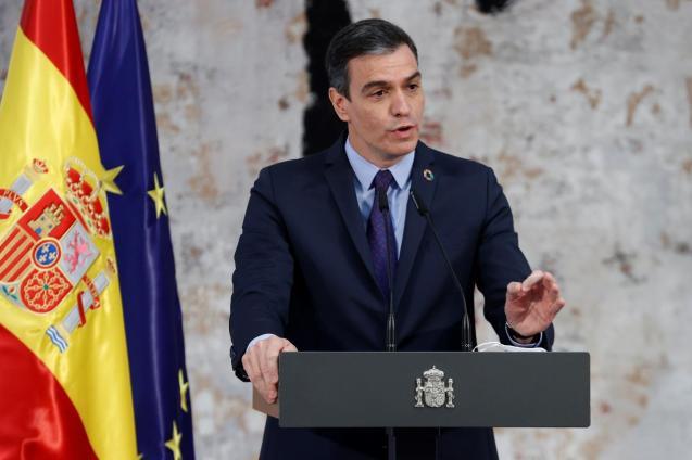 The prime minister of Spain, Pedro Sánchez
