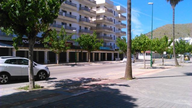 Part of Avenida Pedro Mas y Reus in Puerto Alcudia, Mallorca