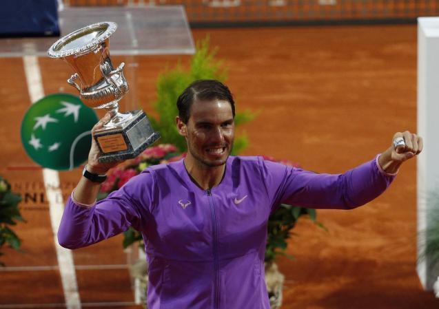 Rafael Nadal wins his tenth Italian Open