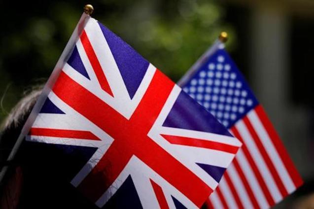 American flag & Union Jack.