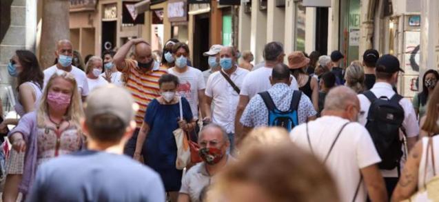 People wearing masks, Palma.
