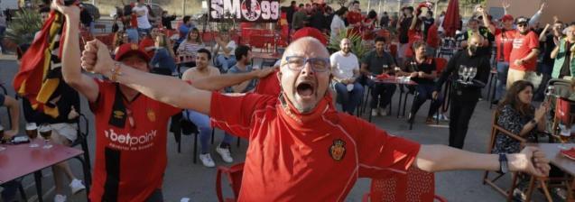 Real Mallorca promotion celebrations