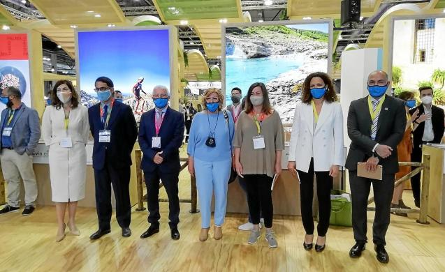 Alcudia town hall and Balearic government representatives at the Fitur fair in Madrid