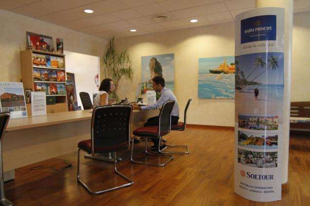 A person at a travel agency
