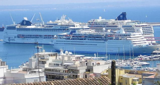 Cruise ships in Palma, Mallorca