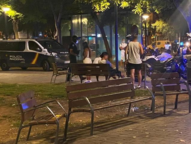 Street drinking in Palma, Mallorca