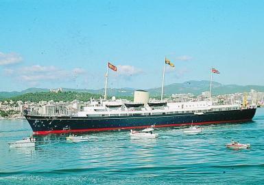 The former royal yacht Britannia