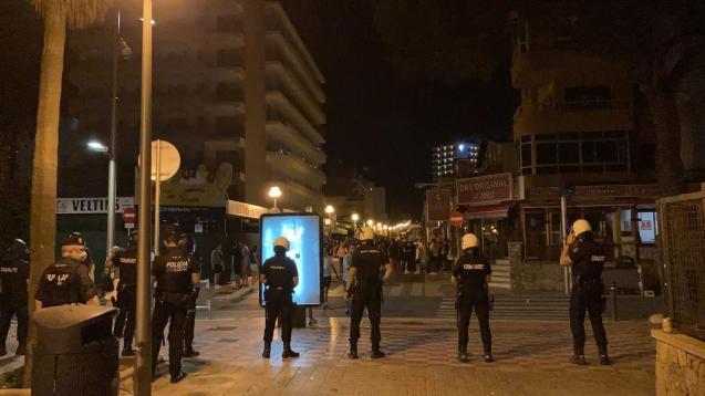Police in Playa de Palma, Mallorca