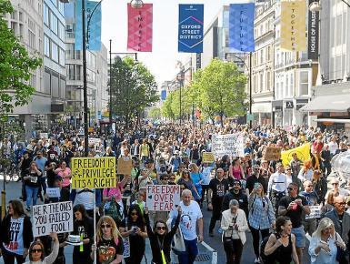 A massive Freedom rally was held in London last weekend.