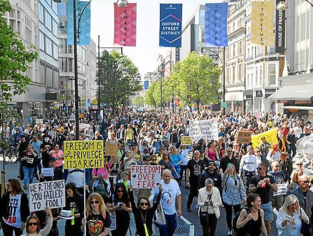A massive Freedom rally was held in London last weekend