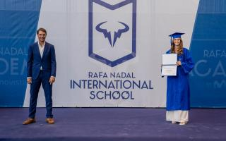 Rafa Nadal attends the students' graduation ceremony every year