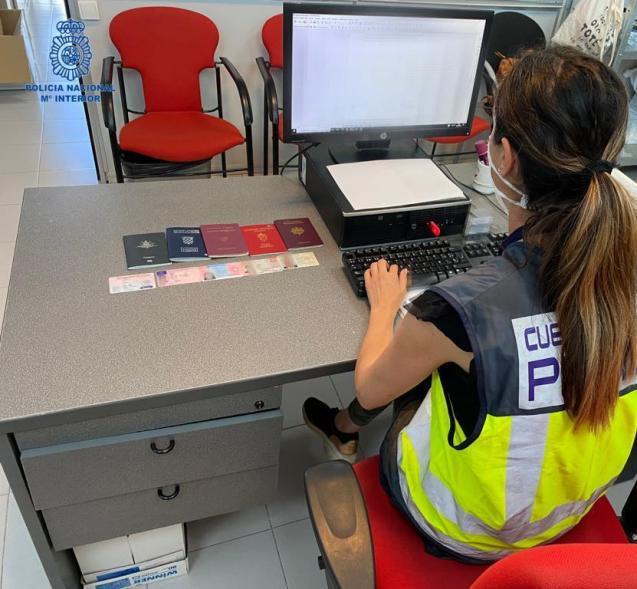 National Police border service at Palma Airport, Mallorca