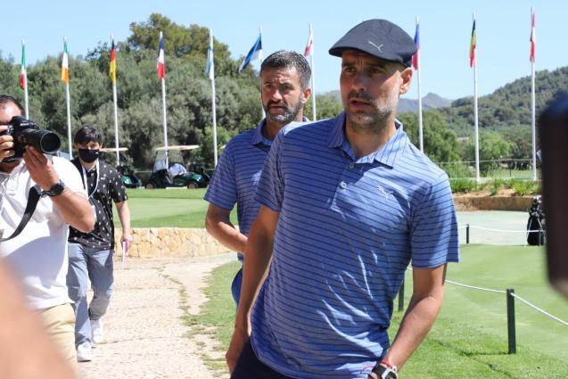 Pep Guardiola in Mallorca.