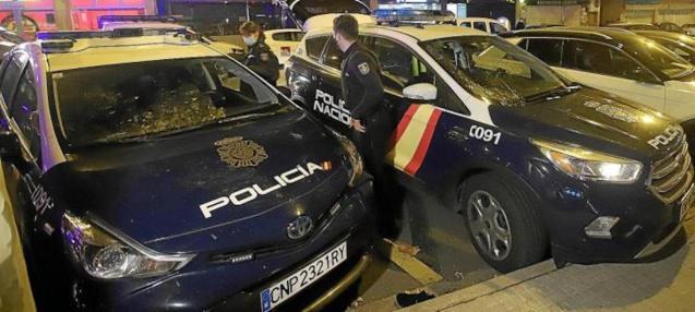 Police in Son Cotoner, Palma.