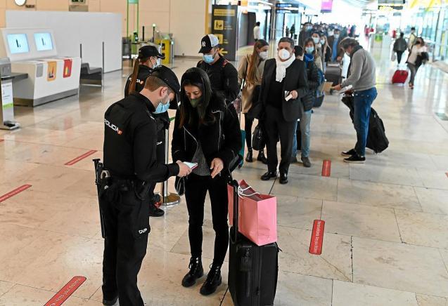 Covid check at Palma Son Sant Joan Airport