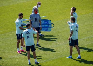Spain training.