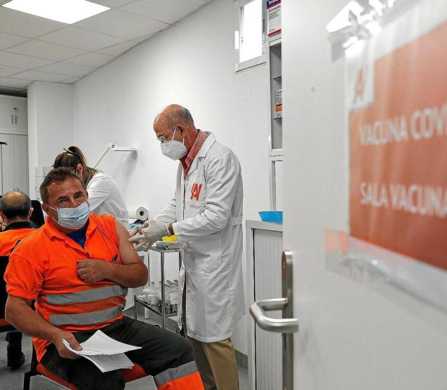 Company employees are being vaccinated in Valencia