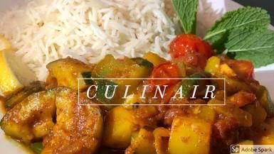 Homemade vegan courgette recipe.