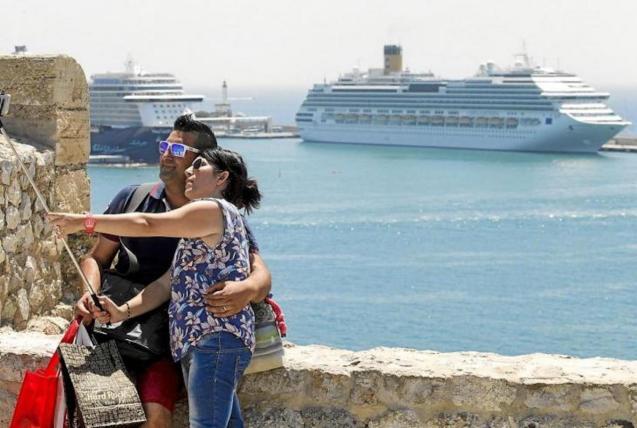 Cruise ship in Palma.