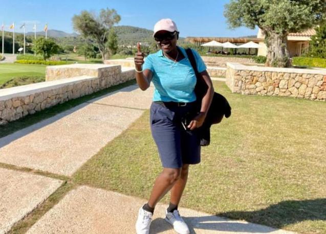 Auma Obama At Pula Golf Course, Mallorca.