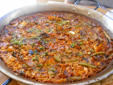 The vegetable paella was a beauty and worth a 10.