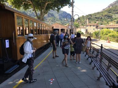 The Soller Train, running a reduced service at present.