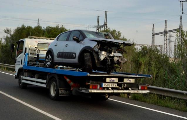 Car taken away after fatal road accident in Mallorca