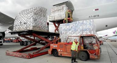 PPP materials arriving from China. archive photo.