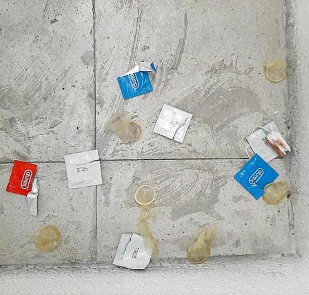 Condoms found at Estació Intermodal, Palma.