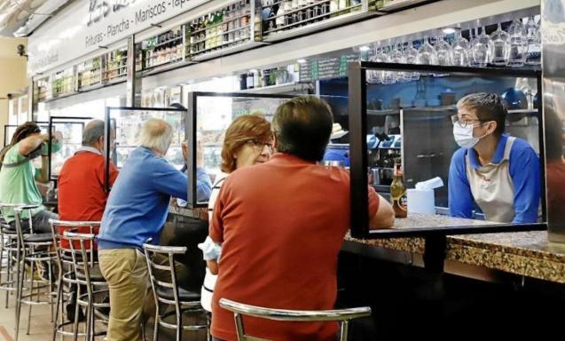 Customers at the bar, Palma.