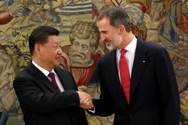 Spain's King Felipe and China's President Xi Jinping