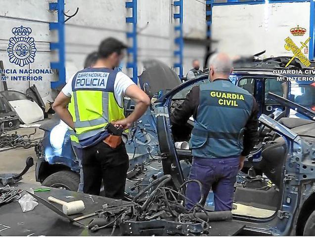 Mallorca police operation against car theft