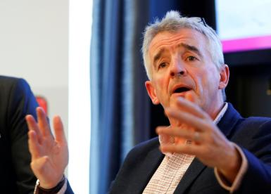 Ryanair Chief Executive Michael O'Leary addresses a news conference in Vienna, Austria September 26, 2019.