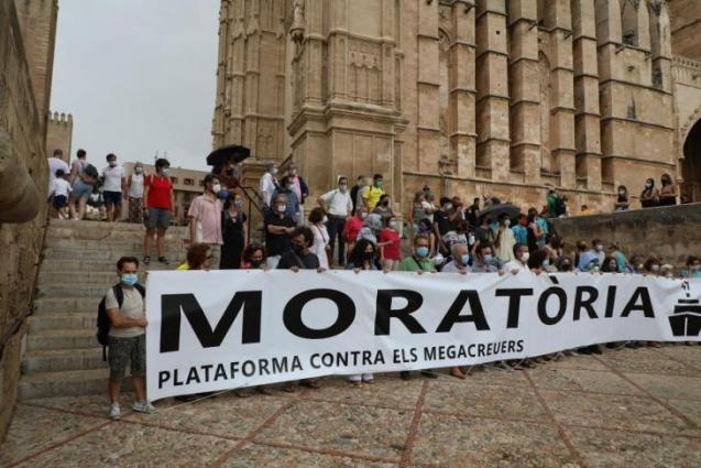 The protest in Palma this morning.