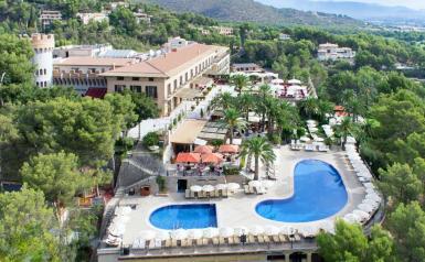 Aerial photo of Castillo Hotel Son Vida Hotel, Palma.
