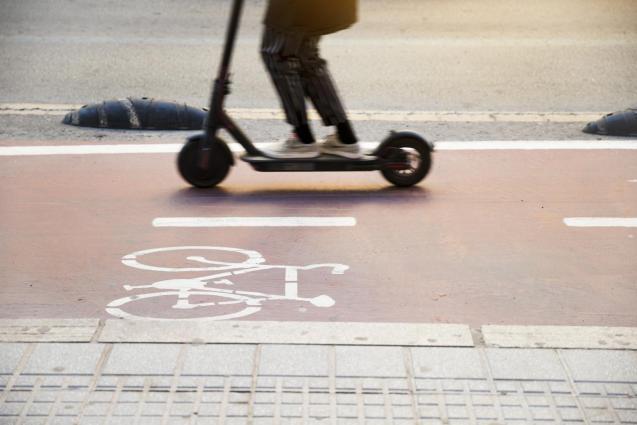 Scooter in Palma, Mallorca