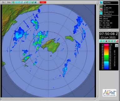This image released by the Palma Met Office.