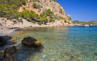 Playa de Cala Blanca, Mallorca.
