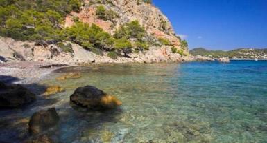 Playa de Cala Blanca, Mallorca. archive photo.
