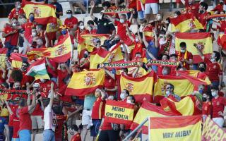 Supporters of Spain during the UEFA EURO 2020