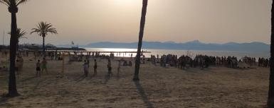 On Arenal beach on June 14.